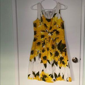 Sleek flower sleeveless dress 4 office & cocktail